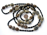 Black & White Long Tribal Bead Necklace - The Jewelry Lady's Store - 5