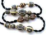 Black & White Long Tribal Bead Necklace - The Jewelry Lady's Store - 1