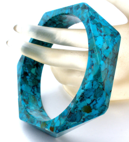 Blue & Green Turquoise Bangle Bracelet
