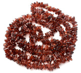 "Brown Quartz Bead Necklace 34"" - The Jewelry Lady's Store"