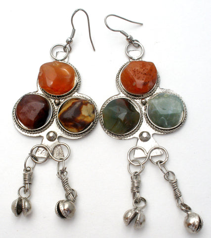 Carnelian Jasper & Aventurine Earrings