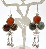 Carnelian Jasper & Aventurine Earrings - The Jewelry Lady's Store