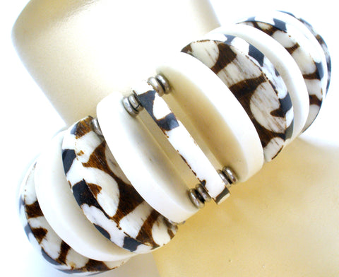 Carved Bone Expansion Bracelet