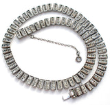 Catamore Sterling Silver Rhinestone Necklace Vintage - The Jewelry Lady's Store