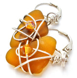 Citrine Wrapped Sterling Silver Earrings - The Jewelry Lady's Store