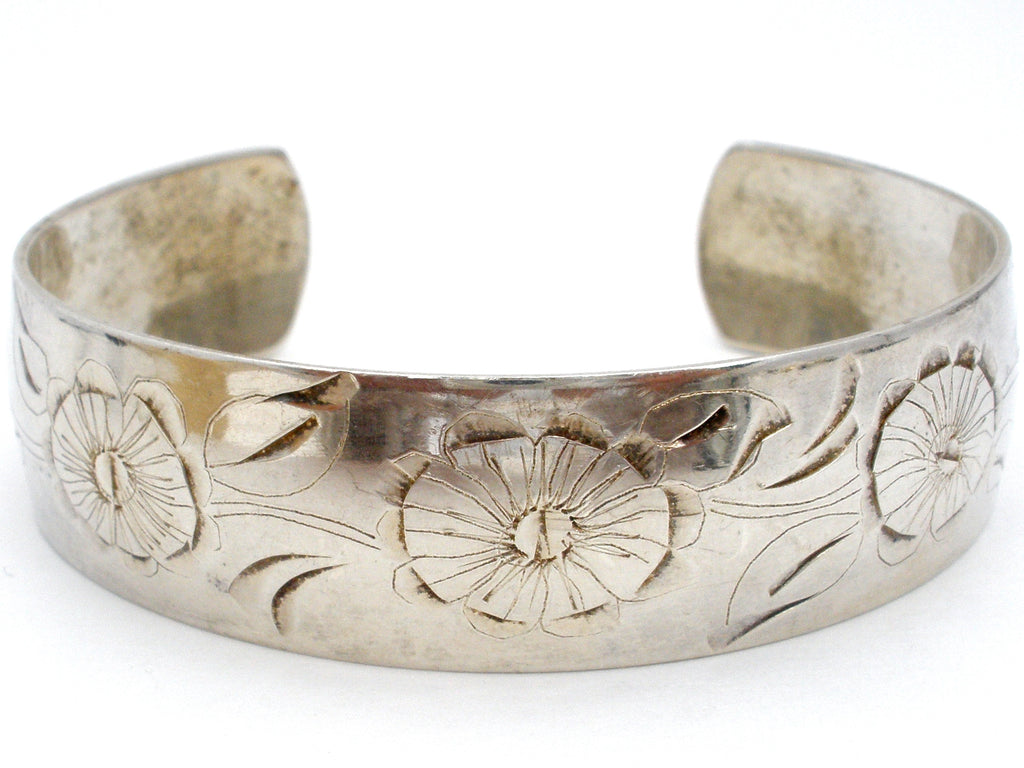 Daisy Sterling Silver Cuff Bracelet by S. Kirks and Son - The Jewelry Lady's Store