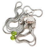 Elephant Necklace with Peridots Sterling Silver - The Jewelry Lady's Store