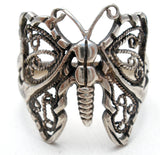 Filigree Butterfly Ring Sterling Silver Size 9 - The Jewelry Lady's Store