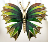 Green Yellow and Brown Butterfly Brooch Pin - The Jewelry Lady's Store