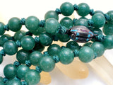 "Hand Knotted Green Aventurine Bead Necklace 26"" - The Jewelry Lady's Store"
