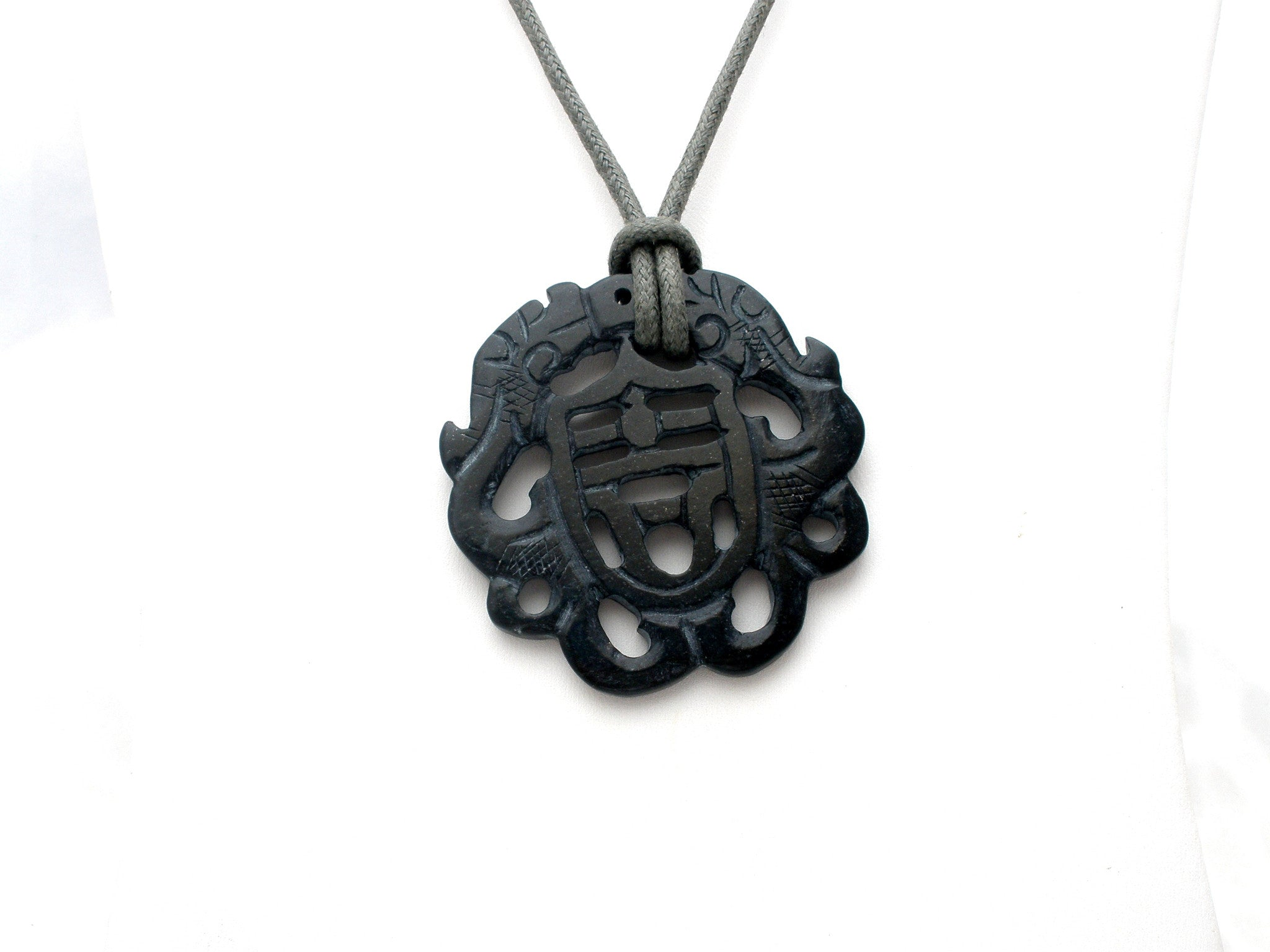 jade cord green hand carved unique pendant yi knotted img tiger necklace amulet ru with