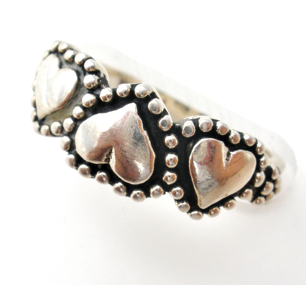 Heart Ring Sterling Silver Size 3 - The Jewelry Lady's Store