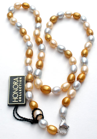 Honora Multi Color Pearl Necklace 925