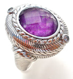 Judith Ripka Amethyst Ring Size 5 - The Jewelry Lady's Store