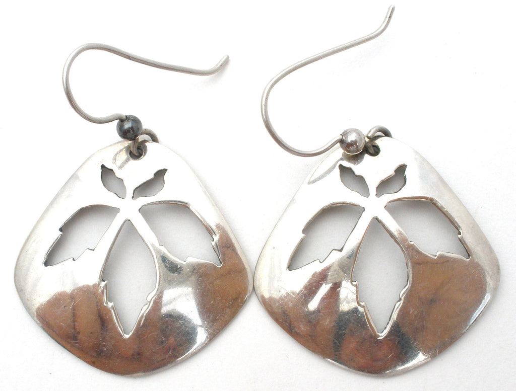 Kabana Sterling Silver Leaf Dangle Earrings - The Jewelry Lady's Store