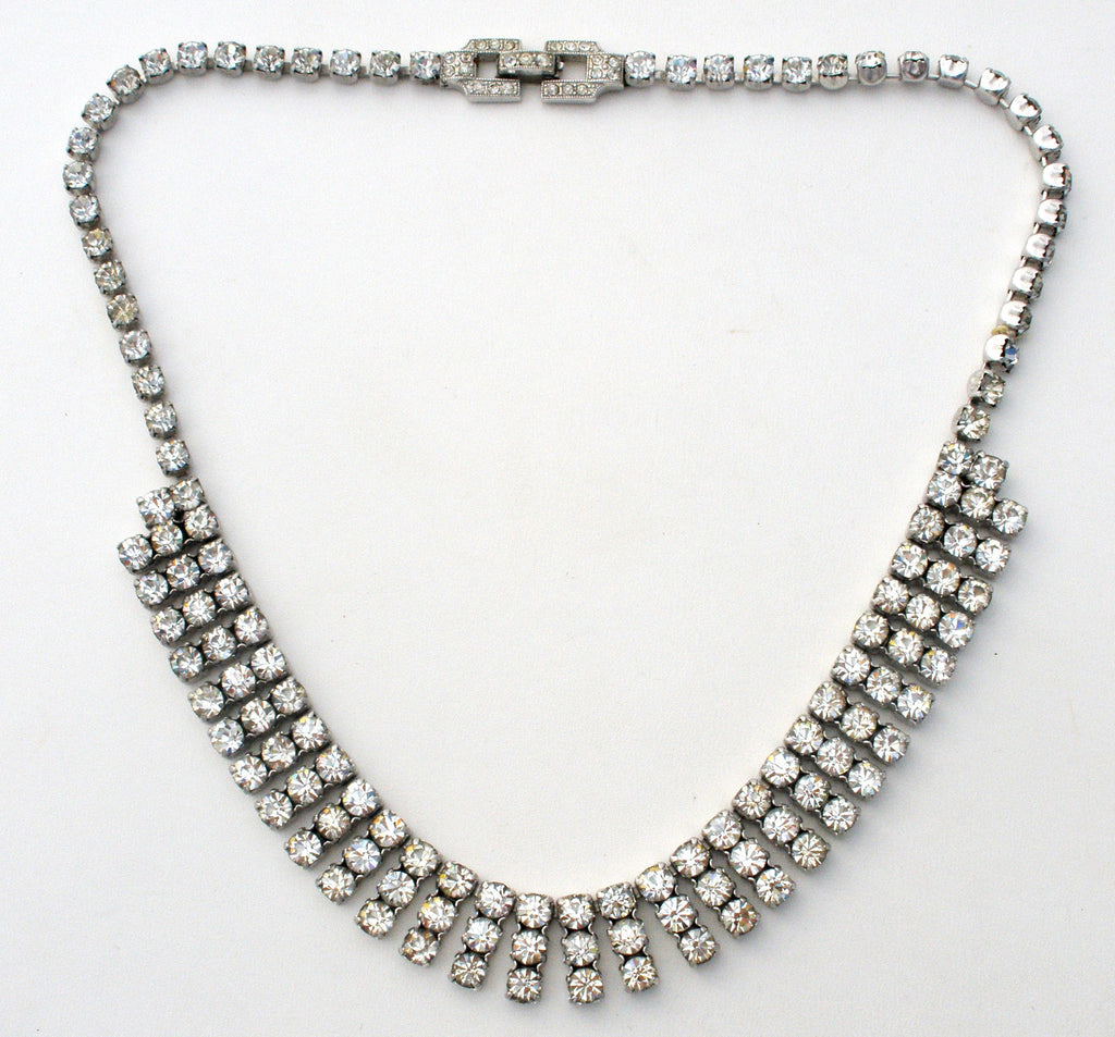 necklace vintage rhinestone drop products narro