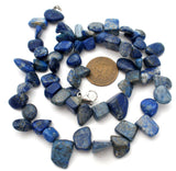 "Lapis Lazuli Nugget Bead Necklace 18"" - The Jewelry Lady's Store"