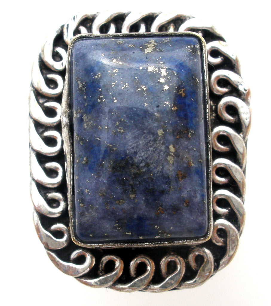 Lapis Lazuli Ring Sterling Silver Size 8 - The Jewelry Lady's Store