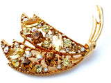Large Rhinestone Brooch Emmons Pin - The Jewelry Lady's Store