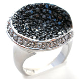 Lia Sophia Black Crystal Ring Size 9 - The Jewelry Lady's Store