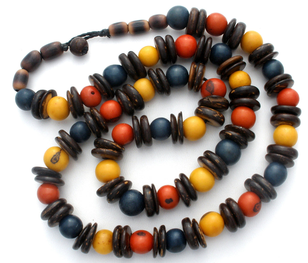 "Multi Color Agate Gemstone Bead Necklace 21"" - The Jewelry Lady's Store"