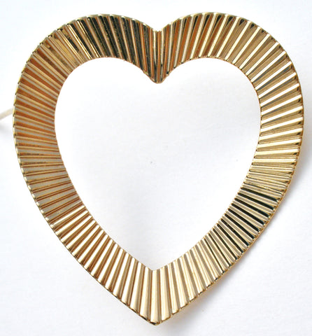 Napier Gold Over Sterling Silver Heart Pin