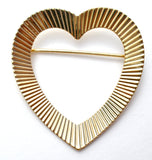 Napier Gold Over Sterling Silver Heart Pin - The Jewelry Lady's Store