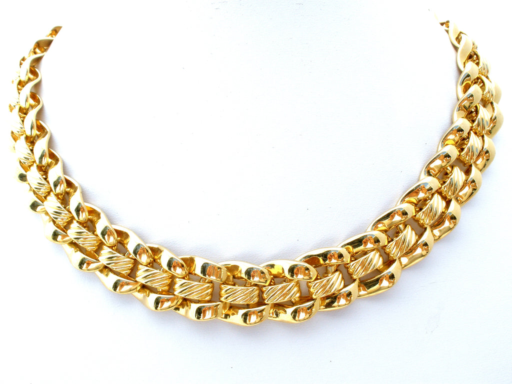 Napier Gold Link Chain Necklace Vintage - The Jewelry Lady's Store