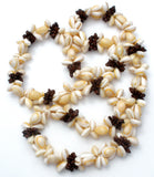 "Natural Seashell 38"" Long Vintage - The Jewelry Lady's Store"
