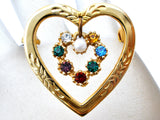 Heart Shaped Brooch With Rhinestones - The Jewelry Lady's Store - 7