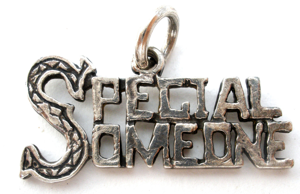 Special Someone Sterling Silver Charm Pendant Vintage - The Jewelry Lady's Store