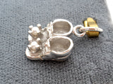 Sterling Silver Baby Booties Charm Vintage - The Jewelry Lady's Store