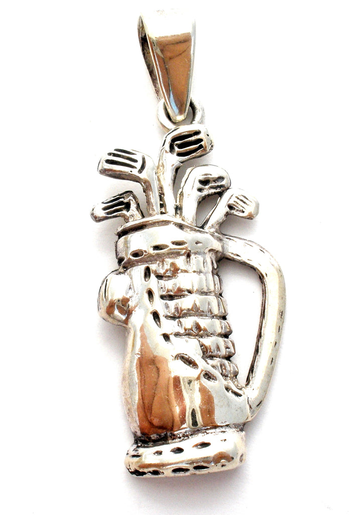 Sterling Silver Golf Bag Pendant - The Jewelry Lady's Store