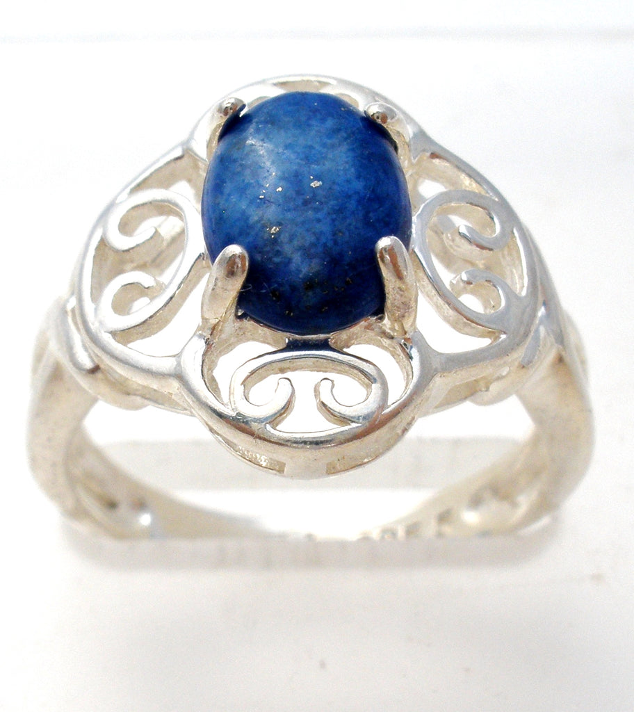 Sterling Silver Lapis Lazuli Ring Size 5 - The Jewelry Lady's Store