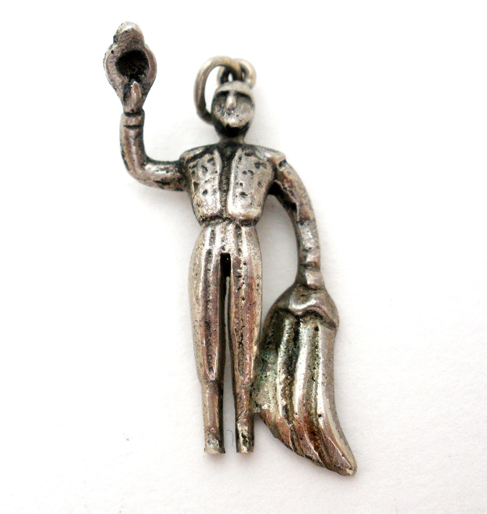 Sterling Silver Matador Charm Vintage - The Jewelry Lady's Store