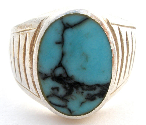 Sterling Silver Turquoise Ring Size 5.5