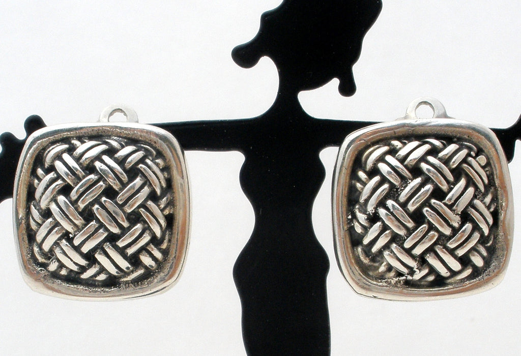 Sterling Silver Braided Clip On Earrings - The Jewelry Lady's Store