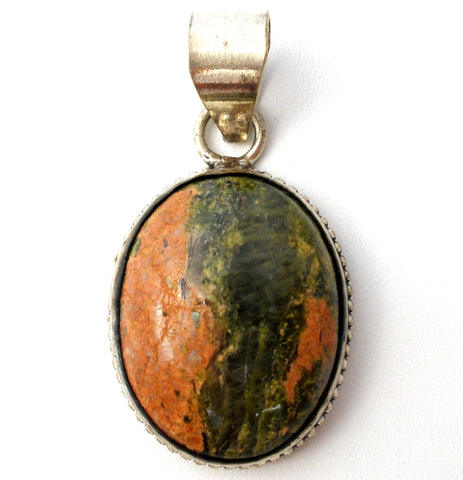 Sterling Silver Jasper Pendant For Necklace