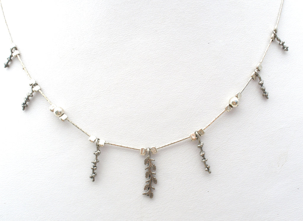 Sterling Silver Leaf Necklace Israel Kai Jewelry - The Jewelry Lady's Store