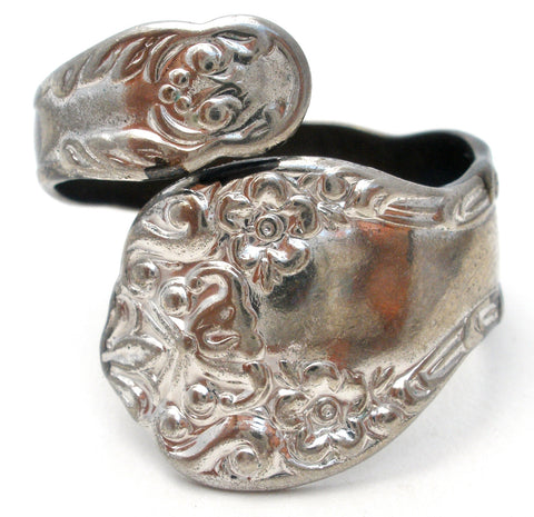 Sterling Silver Spoon Ring Size 8 Uncas Vintage