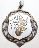 Sterling Silver White Enamel Siam Dancer Pendant - The Jewelry Lady's Store