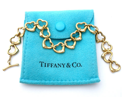 Tiffany & Co 18K Gold Open Heart Bracelet Peretti