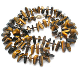 "Tiger's Eye Bead Necklace Knotted 25"" - The Jewelry Lady's Store"