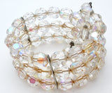 Triple Strand AB Crystal Bead Wrap Bracelet Vintage - The Jewelry Lady's Store