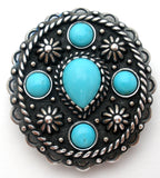Turquoise Sterling Silver Slide Pendant - The Jewelry Lady's Store