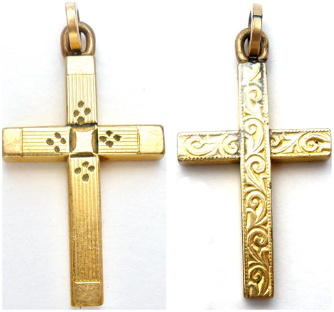 Victorian Cross Pendant GF Reversible