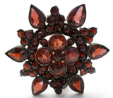 Victorian Bohemian Garnet Brooch Pin 6 Points - The Jewelry Lady's Store