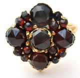 Victorian Bohemian Garnet Ring 14K Gold - The Jewelry Lady's Store