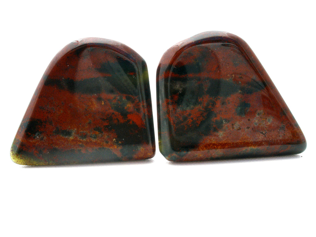 Vintage Mens Jewelry Jasper Gemstone Cufflinks - The Jewelry Lady's Store