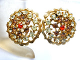 Vintage Rhinestone Brooch And Earrings Set High End - The Jewelry Lady's Store